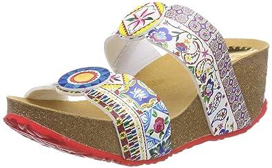 design senza tempo 5bd56 d513d Desigual Shoes_Cycle Microrapport, Sandali con Zeppa Donna