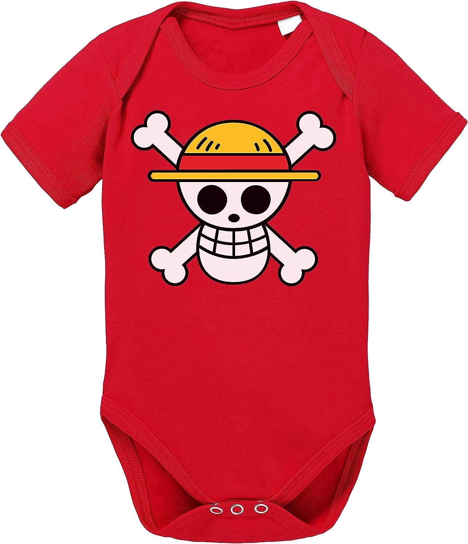 Tee Kiki Logo One Straw Hat Baby Body de algodón orgánico Piece Proverbs Romper para niños y niñas de 0-12
