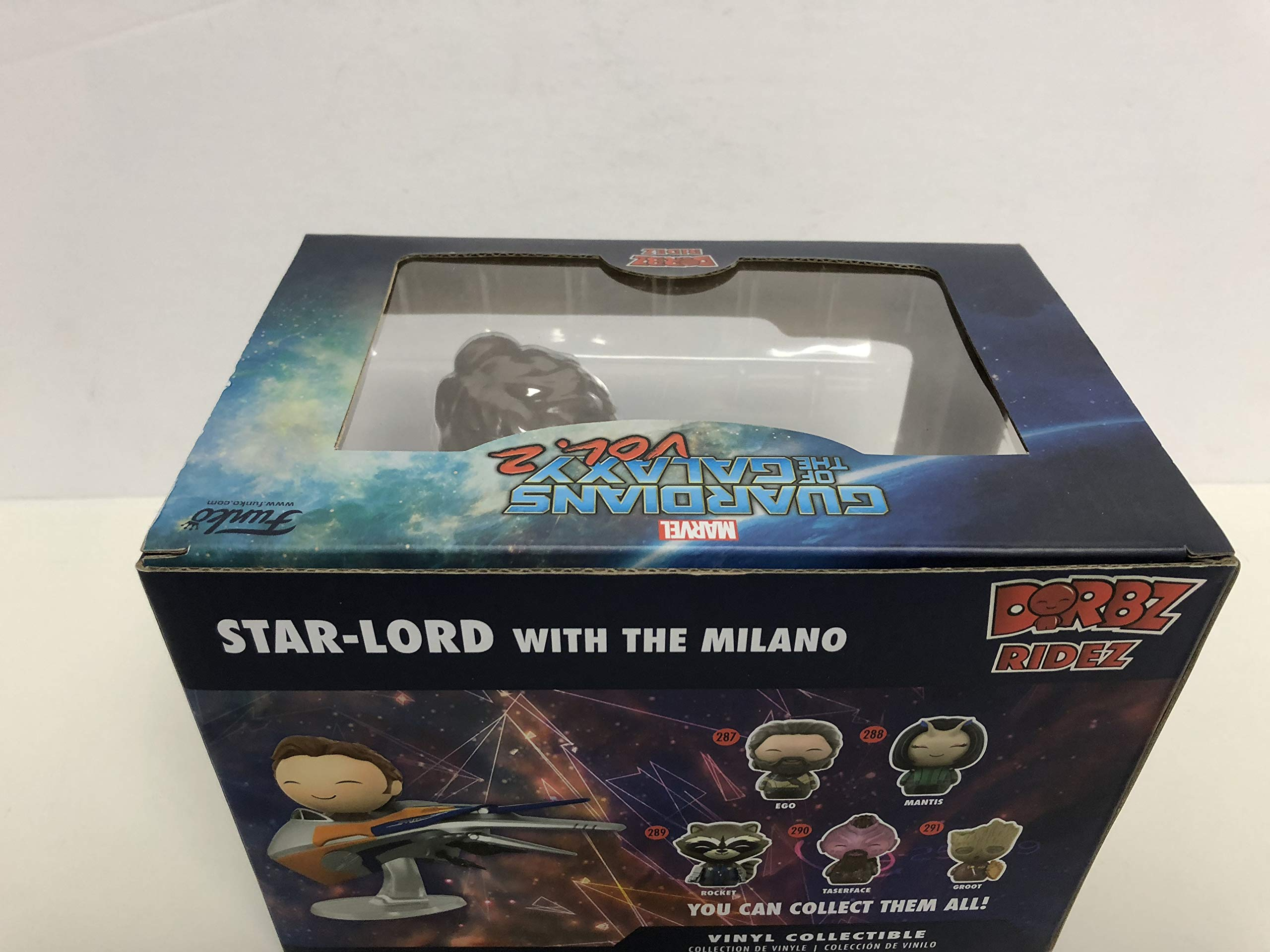 DORBZ RIDEZ Star Lord with the Milano 27 Guardians of the Galaxy Vol. 2 vinyl collectible Funko DC Legion of Collectors Exclusive
