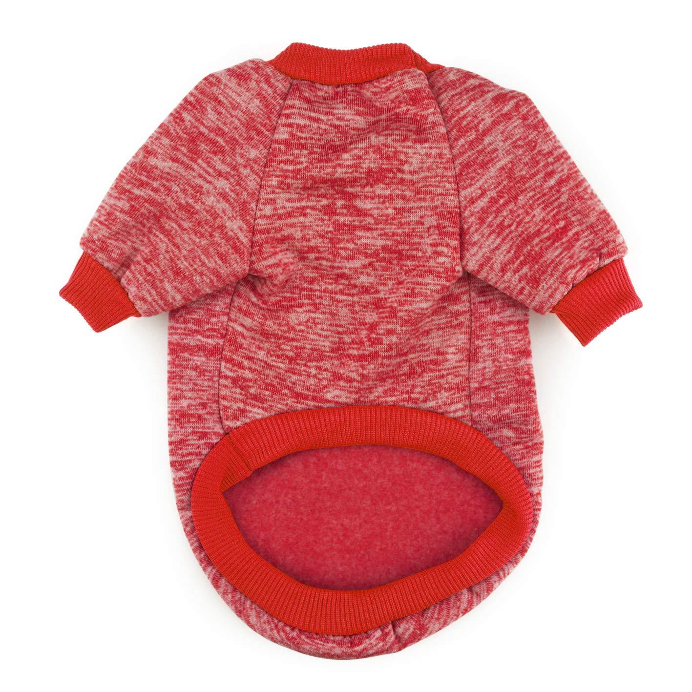 Idepet Pet Cat Dog Sweater,Warm Dog Jumpers Cat Clothes,Fleece Pet Coat for Puppy Small Medium Large Dog,Pink /& Grey XL, Purple