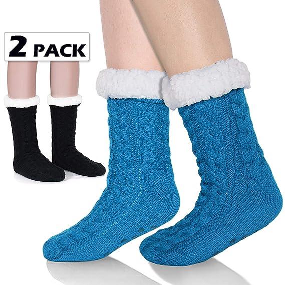Tacobear Mujeres Gruesos lana calcetines de piso casa abrigados calcetines de mujeres niñas antideslizantes calcetines de