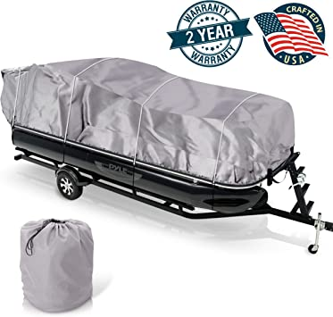 Universal Boat Adjustable Storage Cover 25 28 L To 96 Pontoon Boats Protection Custom Heavy Duty Waterproof Mildew Weather Resistant Polyester
