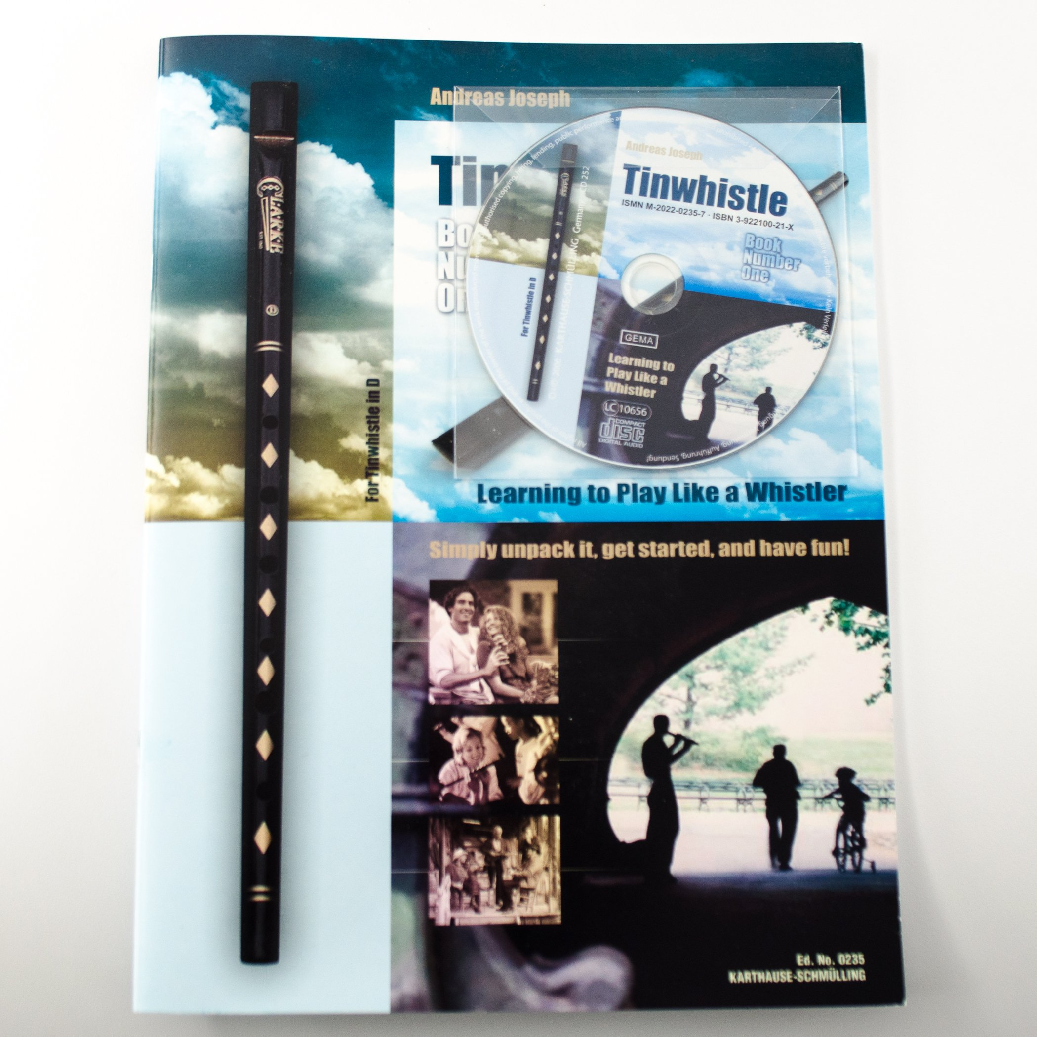 Clarke Celtic Tinwhistle Value Bundle with Tinwhistle, Pouch, Book and CD by Clarke (Image #3)