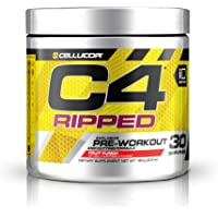 C4 Ripped Pre Workout Powder Fruit Punch - Creatine Free + Sugar Free Preworkout Energy Supplement for Men & Women…