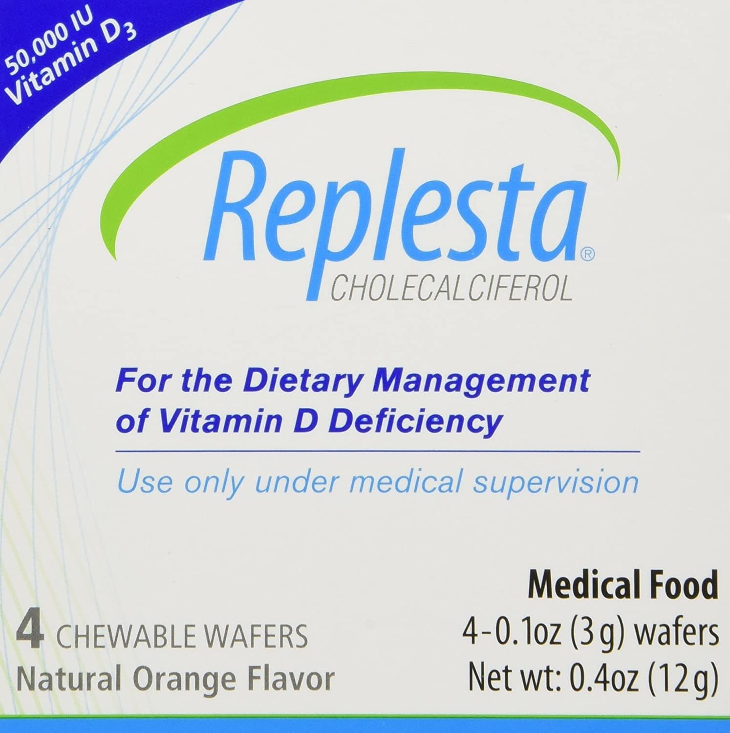 Replesta Chewable Wafers, Natural Orange Flavor 4 ea (Pack of 2)
