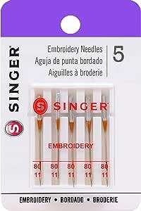 Singer - Agujas universales para máquina de Coser, Size 75, 80/11 ...