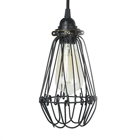 wire cage light fixtures vintage style ceiling light industrial vintage style hanging pendant light fixture thick metal wire cage lamp guard adjustable