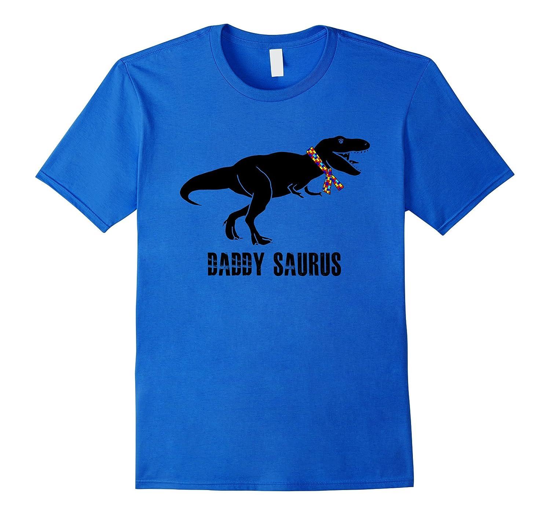 Mens Autism Dad Gift , Daddy Saurus Gift Shirt, Autism Awareness-FL