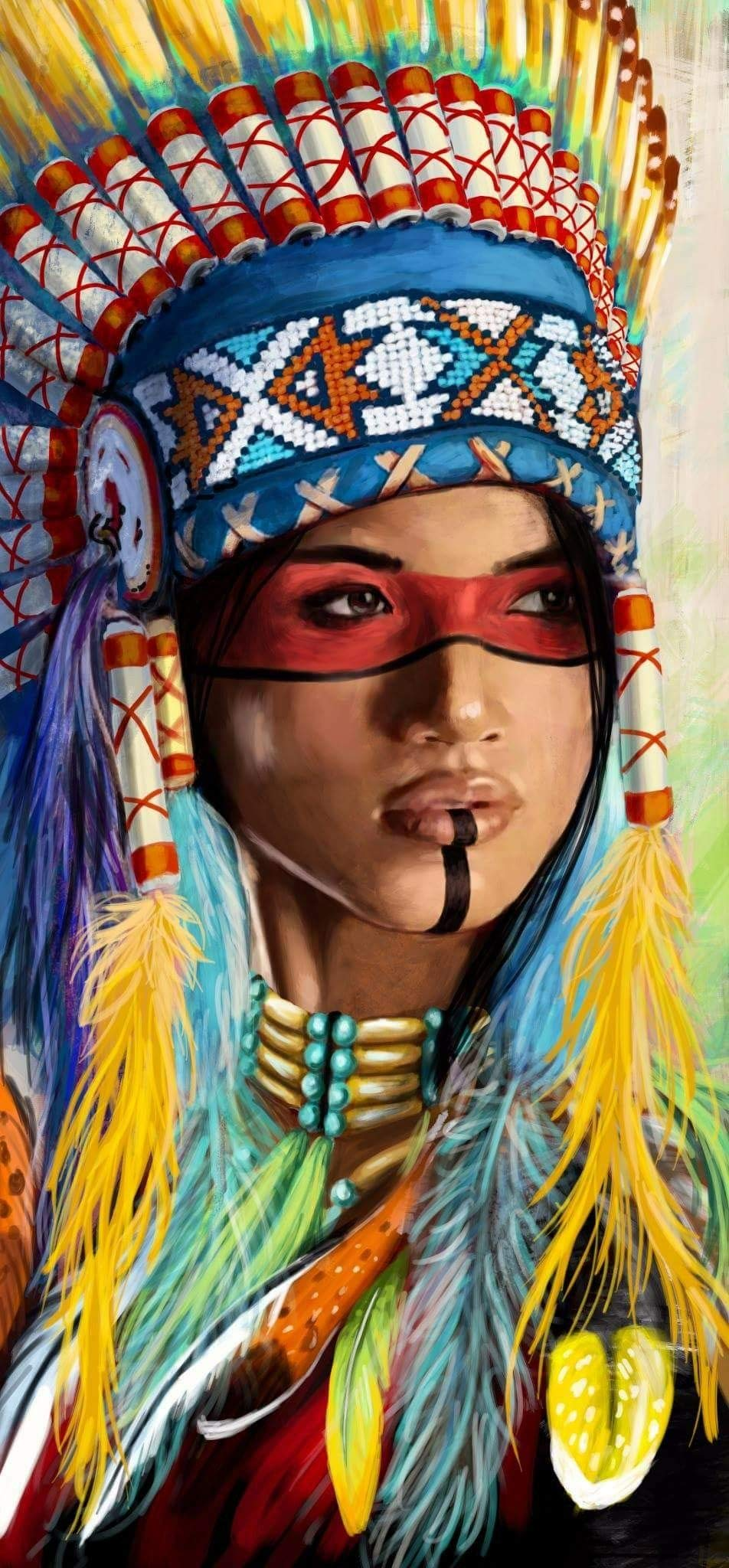 KOTART Diamond Painting Kits for Adults 16x31.5'' Full Drill Native American Indian Woman 2 - DIY Diamond Cross Stitch Patterns Dreamcatcher Feather Set with Tools, Accessories, Supplies – Adults