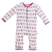 Kickee Pants Baby Girls' Print Coverall - Natural Flip Flop-0-3 Months