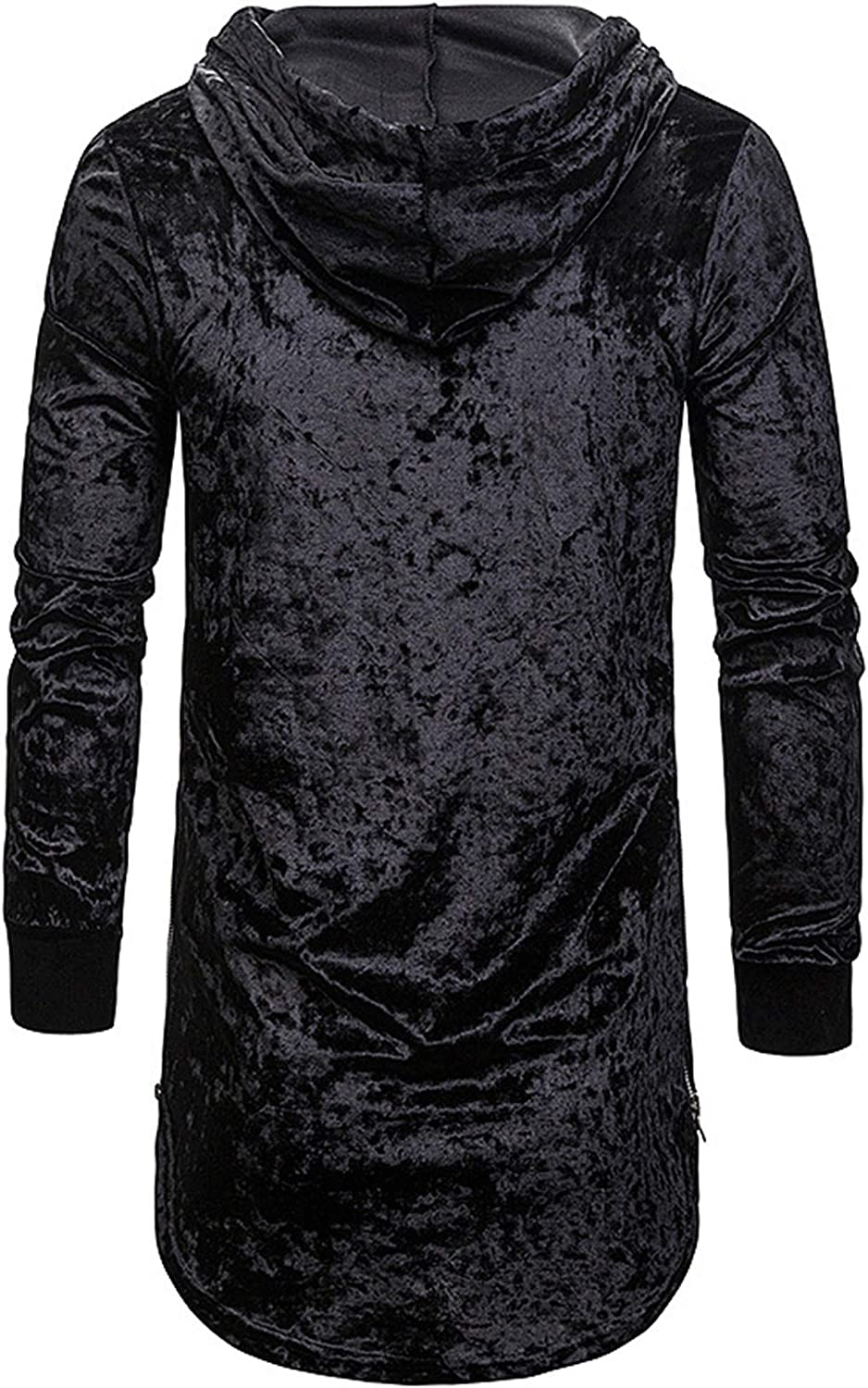 Allonly Mens Fashion Solid Color Big Hood Pullover Long Sleeve Round Bottom Hoodie Sport Workout Sweater