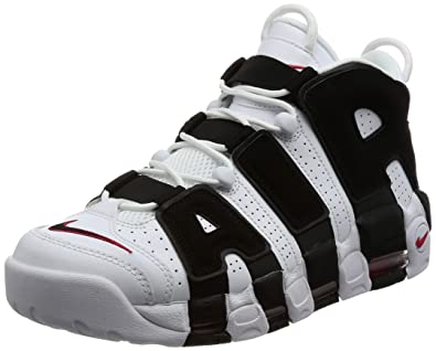 NIKE 414962-105 Men Air More Uptempo White Black Red