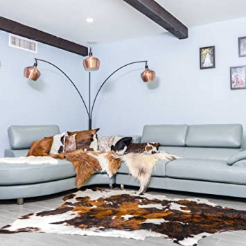 amazoncom superior quality rodeo cowhide rug size 5x7 feet150cmx 210cm tc5x7 home u0026 kitchen