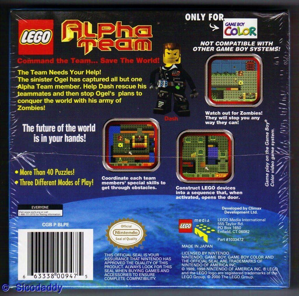 amazon com lego alpha team nintendo game boy color video games