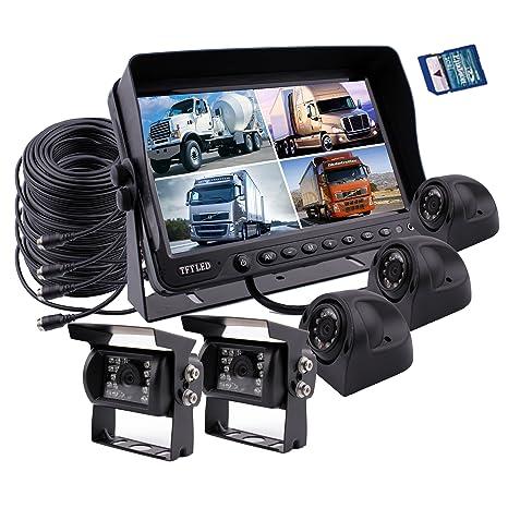 Zhiren - Sistema de cámara de seguridad para coche (9 pulgadas, grabadora DVR integrada