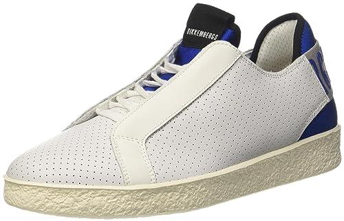 Bikkembergs Best 872, Zapatillas de Estar por casa para Hombre, Bianco (White/Blue), 44 EU: Amazon.es: Zapatos y complementos