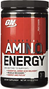 OPTIMUM NUTRITION ESSENTIAL AMINO ENERGY, Fruit Fusion, 9.5 Ounce (Pack of 3)