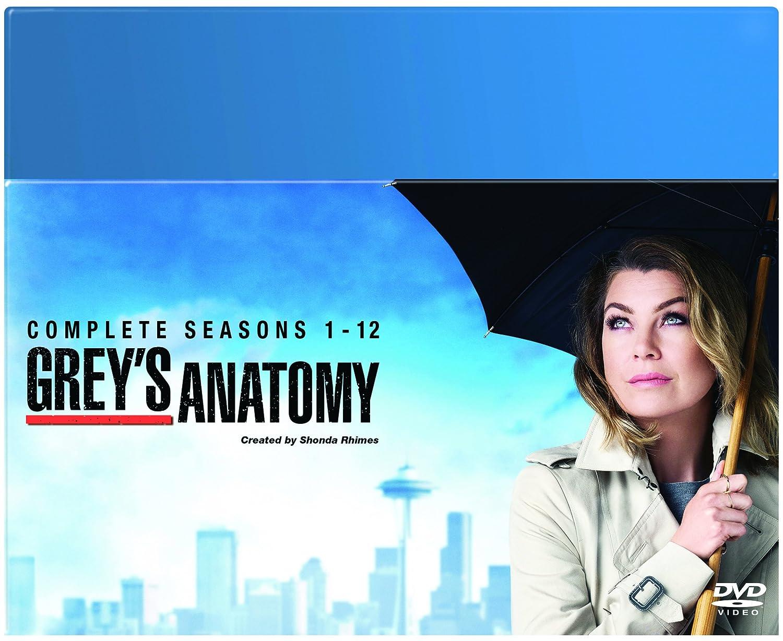Greys Anatomy Season 1 12 Dvd Amazon Ellen Pompeo