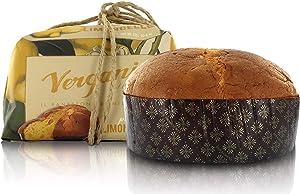Vergani Limoncello Liqueur-Flavoured Panettone, Italian Recipe, Gourmet Line - 750g / 1lb 10.4oz