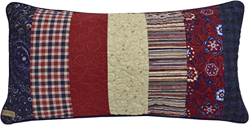 Donna Sharp Throw Pillow – Plymouth Log Cabin Contemporary Decorative Throw Pillow with Multicolored Pattern – Rectangular