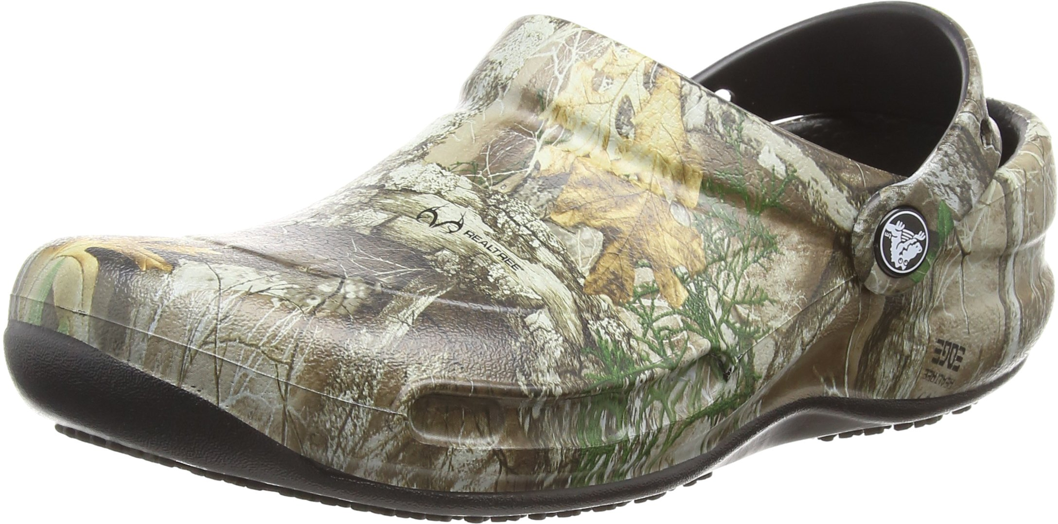 Crocs Bistro Realtree Edge Clog, Khaki/Black, 12 US Men / 14 US Women