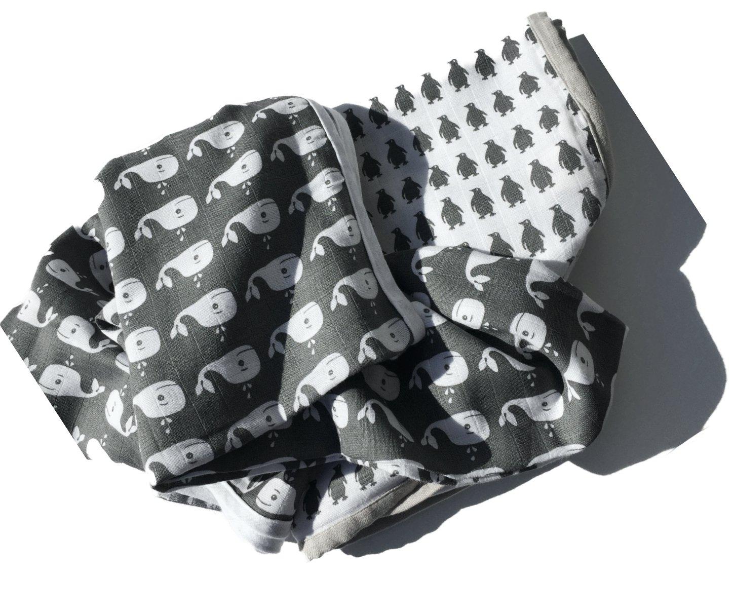 greenluup/® kids Bio Baumwolle 120 x 120 Mulltuch Mullt/ücher Spuckt/ücher Grau Pucktuch Babydecke Spieldecke Stoffwindel Schmusetuch Doppelpack