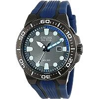 Citizen 60322 Reloj Análogo para Hombre, Color Negro/Azul