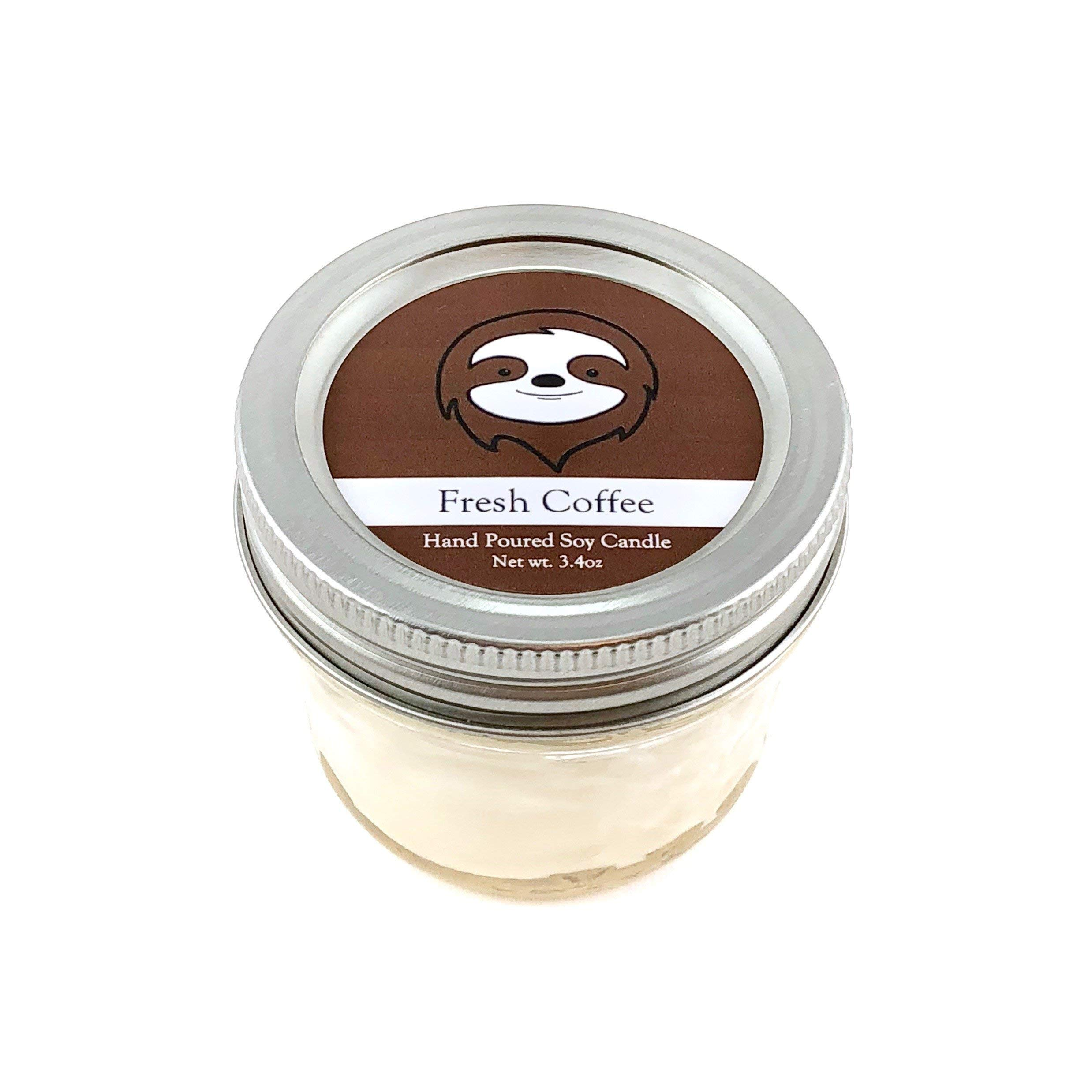 Sloth Conservation Candle - Coffee Scent | Wildlife Conservation All-Natural Vegan Soy Candle