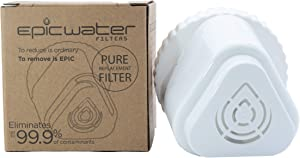 REPLACEMENT FILTER for Epic Pure Water Pitcher / Removes Fluoride, Lead, Chromium 6, PFOS, PFOA, Micro Organisms, Pesticides, Chemicals, Industrial Pollutants / BPA-Free / Filters 150 Gallons