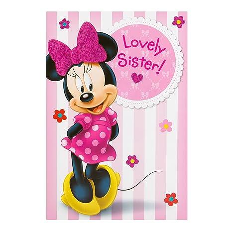 Hallmark Biglietto Di Compleanno Disney Minnie Mouse Per Sorella