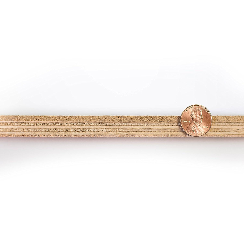 1 Box by Hurst Hardwoods 5 x 1//2 Santos Mahogany Prefinished Engineered Wood Flooring