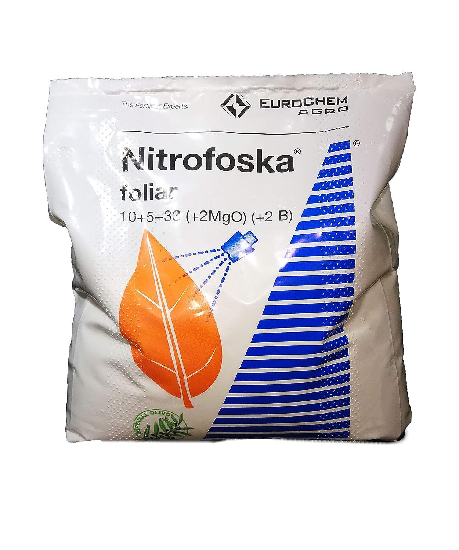Nitrofoska Abono foliar 10-5-33. 5 Kilos. Otoño y brotacion. Fertilizante potasico: Amazon.es: Jardín