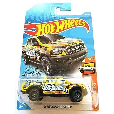 Hot Wheels 2020 HW Hot Trucks '19 Ford Ranger Raptor 185/250, Yellow: Toys & Games