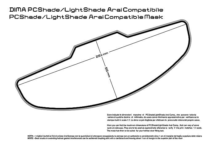 raleri inserto Antifog ligtshade Fogstop 100sec. Crystal Clear Arai 261 x 95 mm: Amazon.es: Coche y moto