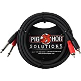 "Pig Hog PD-R1410 Dual RCA (Male) to Dual 1/4"" Mono (Male) Dual Cable, 10 feet"
