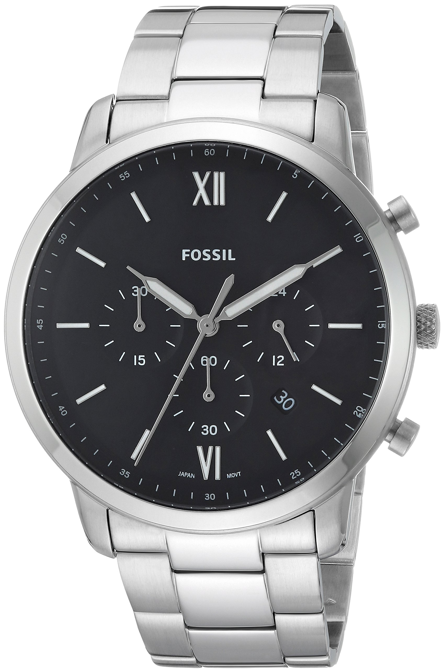 Fossil Men's 'Neutra Chrono' Quartz Stainless Steel Casual Watch, Color:Silver-Toned (Model: FS5384)