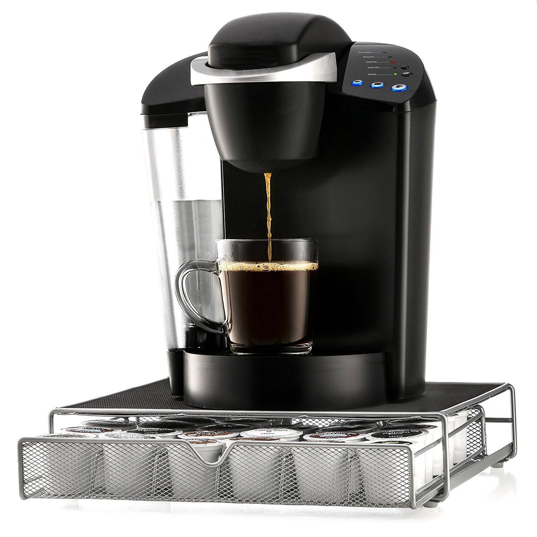 K-cup Storage Organizer Espresso Brewing Machine Holder K Cup Coffee Pods Drawer Holds 36 Coffee Capsules