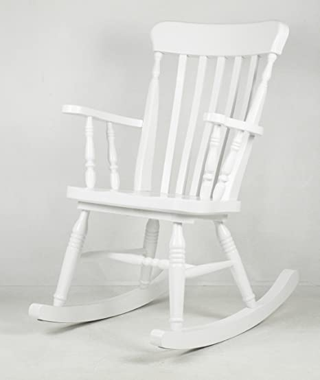 Sedie A Dondolo Shabby Chic.Arredasi Sedia A Dondolo In Legno Di Pino Stile Romantico Shabby Chic