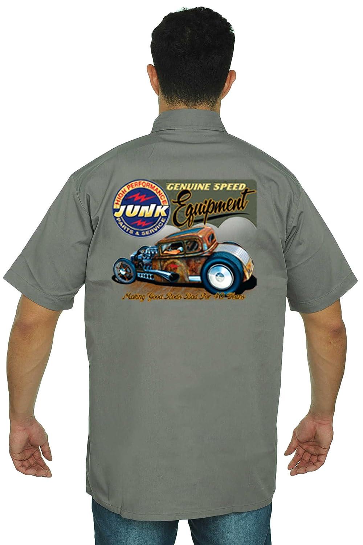 Mens Mechanic Work Shirt High Performance Genuine Speed