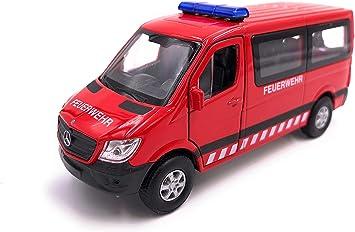 H Customs Mercedes Benz Sprinter Feuerwehr Modellauto Auto Rot Lizenzprodukt 1 34 1 39 Auto