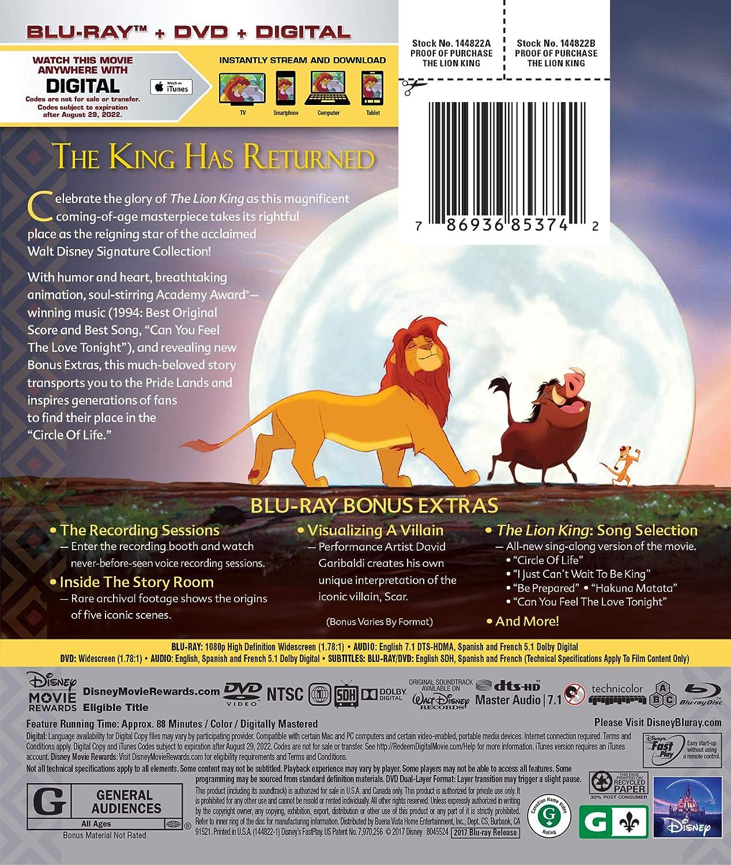 Amazon com: The Lion King [Blu-ray+DVD+Digital HD]: Matthew