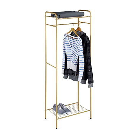 Amazon.com: Relaxdays – ropa soporte con estantes, Sandra ...