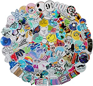 Stickers for Water Bottles, Cute Waterproof Vinyl Stickers for Teens and Girls, | 100 Pack | Unique Aesthetic Durable Decal Stickers, Cool and Trendy Stickers Perfect for Laptop,Phone