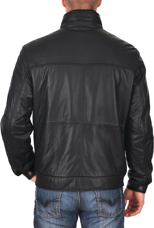 Mens Genuine Lambskin Leather Jacket Slim fit Motorcycle Jacket P105