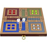 Cerasus Wooden Ludo Board Game with High Gloss Finish (BOG 238)