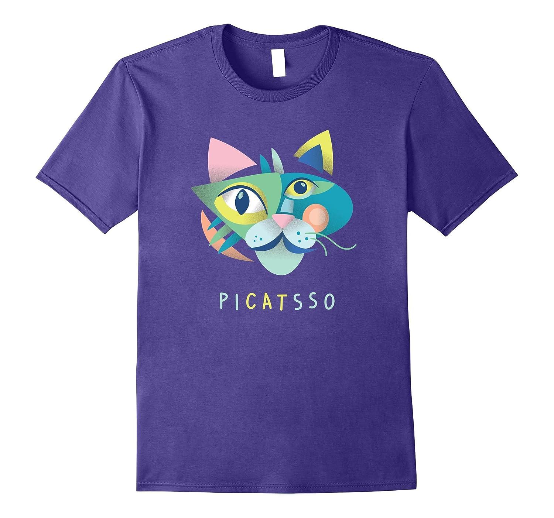 Artist & Art Teacher Shirt: Picatsso, Funny Abstract Cat Art-ah my shirt one gift
