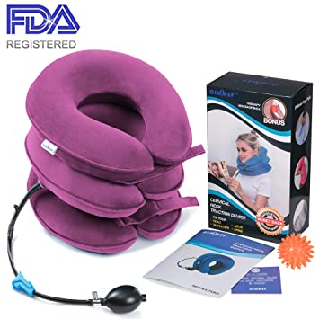 amazon com health cervical neck traction device fda registered