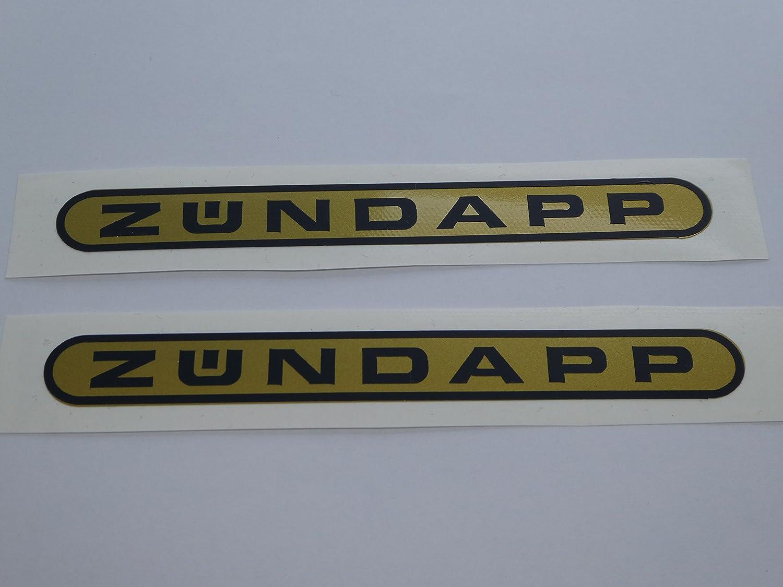 Z/ündapp Combinette Tank Aufkleber Schriftzug Oval Sticker Dekor Gold-Schwarz