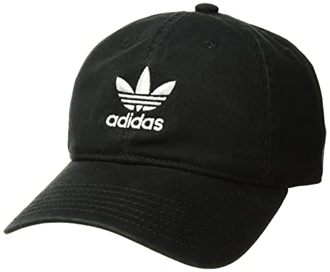 best website 8ca72 0c73c adidas Boys   Youth Originals Relaxed Adjustable Strapback Cap,  Black White, One Size