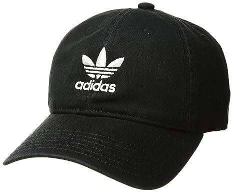 6aa3238879bc16 Amazon.com : adidas Boys / Youth Originals Relaxed Adjustable Strapback Cap,  Black/White, One Size : Clothing